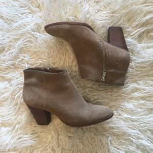 J. Crew Suede Leather Ankle Booties